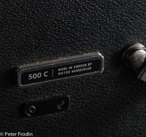 Närbild på Viktor Hasselblad 500C