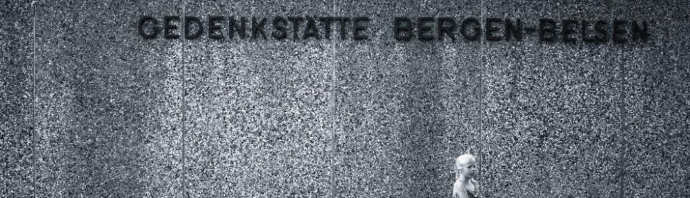 ingågen till koncentrationslägret från WW II, Bergen-Belsen