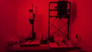 Förstoringsapparaterna i mörkrummet